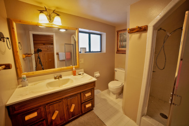 Upstairs 3/4 bath