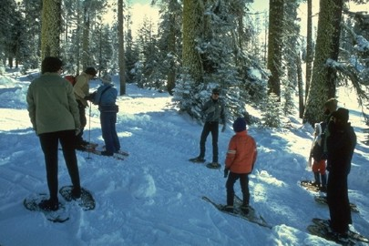 View of snow shoeing at Badger Pass